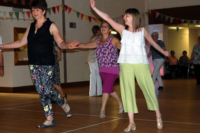 Beginners line dance class